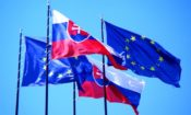 EU and Slovak Flags