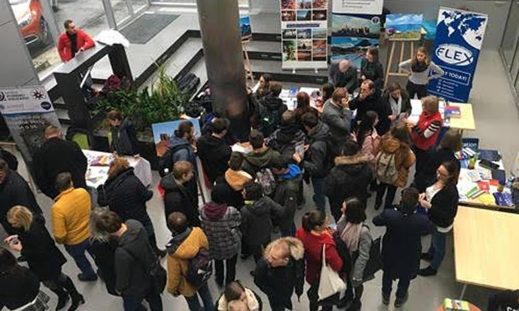 GoUSA exchange fair at Trnava University on November 27, 2018 (Embassy photo)