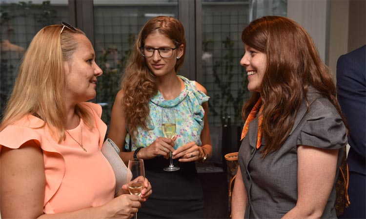 DCM Natasha Franceschi (far right) with representatives of Slovak ETA host institutions (Embassy photo)